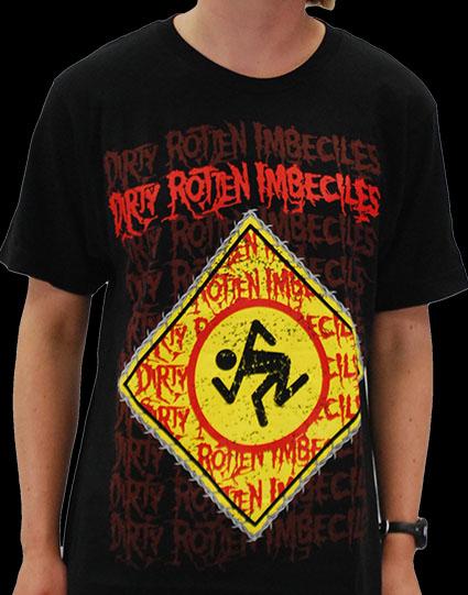 DRI- Thrash Zone & Repeating Logo on a black ringspun cotton shirt