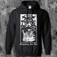 Darkthrone- Preparing For War on a black hooded sweatshirt