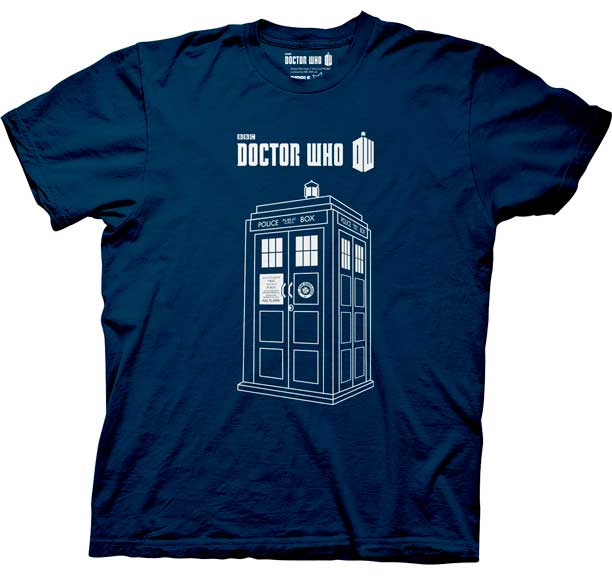 Doctor Who- Tardis on a navy shirt (Sale price!)