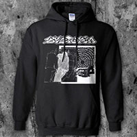 Dystopia- Sleep on a black hooded sweatshirt
