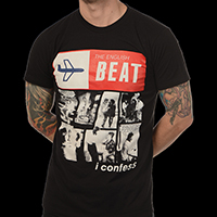 English Beat- I Confess on a black ringspun cotton shirt