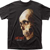 Evil Dead 2, Dead By Dawn- Skull (Color) on a black shirt