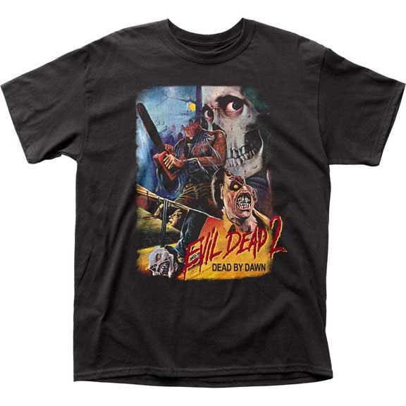 Evil Dead 2, Dead By Dawn- Headless Collage (Thai Movie Poster) on a black shirt