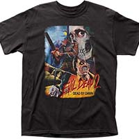 Evil Dead 2, Dead By Dawn- Headless Collage (Thai Movie Poster) on a black shirt