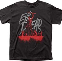 Evil Dead 2- Ash & Hands (Blu-Ray Cover) on a black shirt