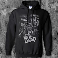 Evil Dead- Collage on a black hooded sweatshirt