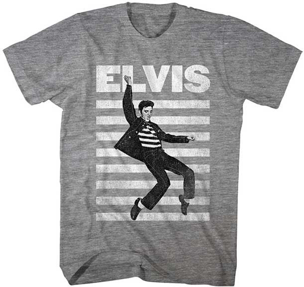 Elvis Presley- Jailhouse Rock on a heather grey shirt