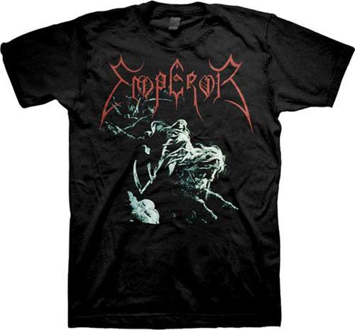 Emperor- Rider on a black shirt