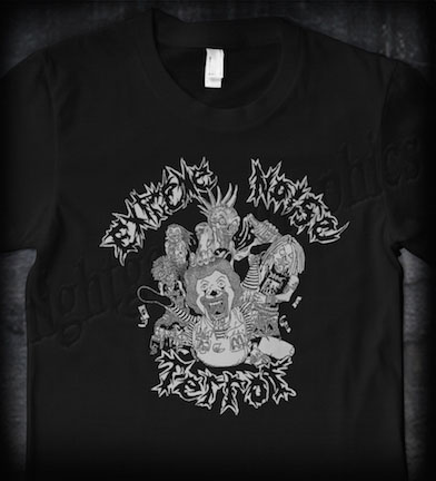 Extreme Noise Terror- Ronald McDonald on a black ringspun cotton shirt