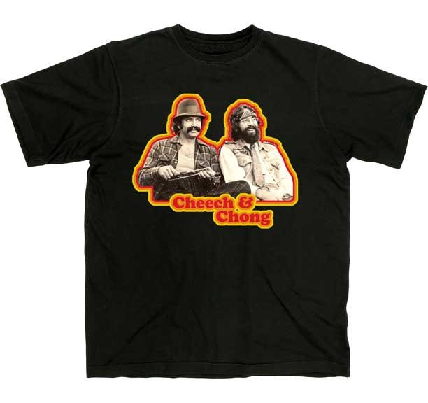 Cheech And Chong- Retro Pic on a black shirt