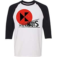 Dead Kennedys- Logo on a white/black 3/4 sleeve shirt