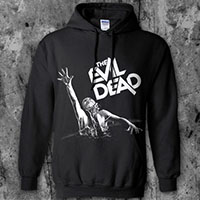 Evil Dead- Girl on a black hooded sweatshirt