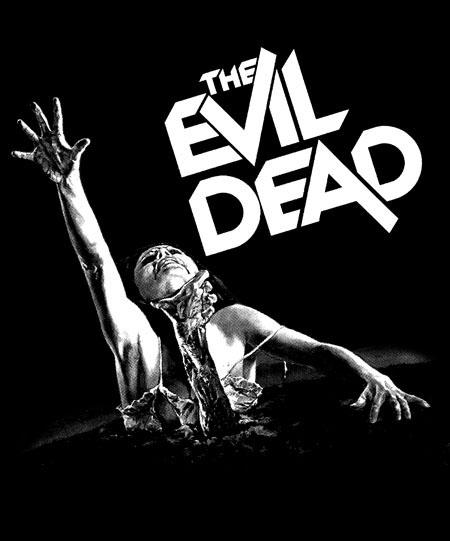 Evil Dead- Girl on a black hooded sweatshirt