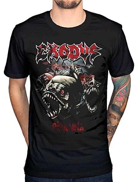 Exodus- Piranha on a black shirt (Sale price!)