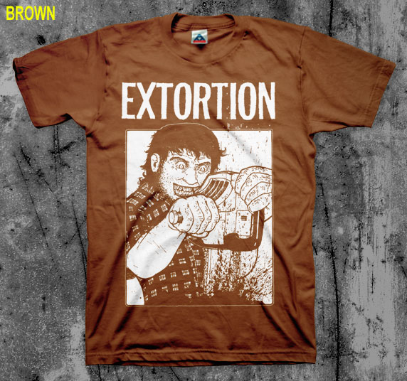 Extortion- Chainsaw shirt (Various Color Ts) (Sale price!)