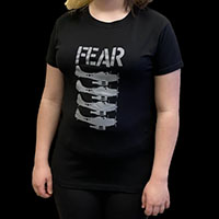 Fear- Beer Bombers on a black shirt