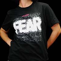 Fear- The Shirt on a black ringspun cotton shirt
