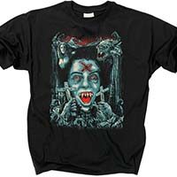 Fright Night- Godmachine Art on a black shirt