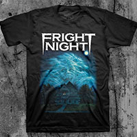 Fright Night- House (Full Color Print) on a black ringspun cotton shirt