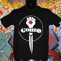 Gonzo on a black shirt
