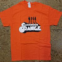 Clockwork Orange- Droog Silhouette on an orange shirt