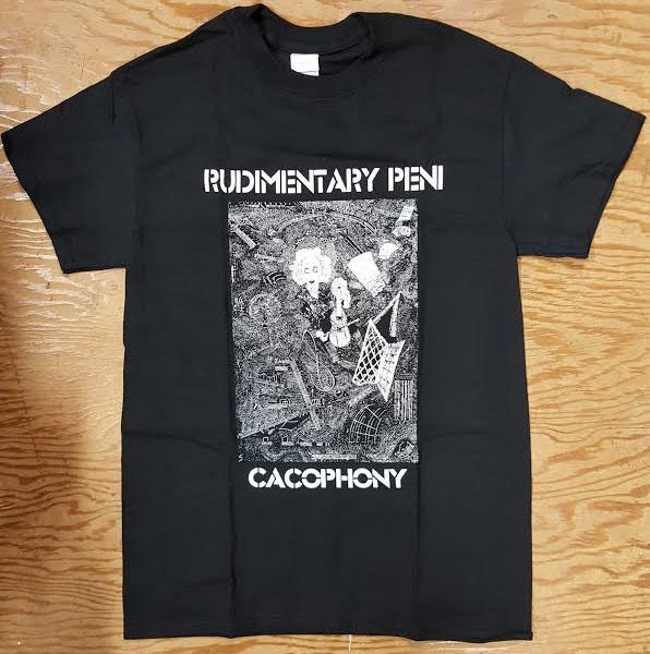 Rudimentary Peni- Cacophony on a black shirt