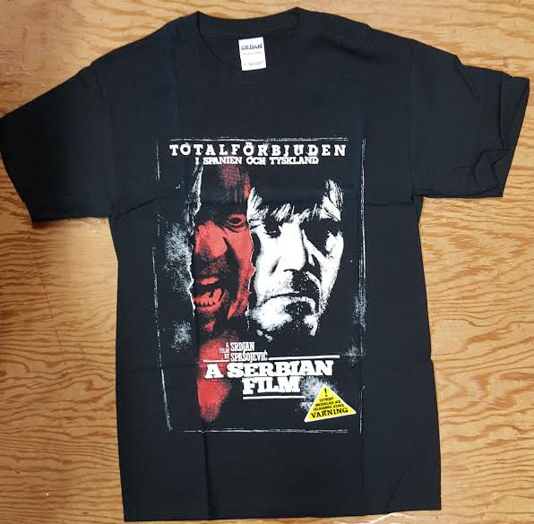 A Serbian Film- Movie Poster on a black shirt