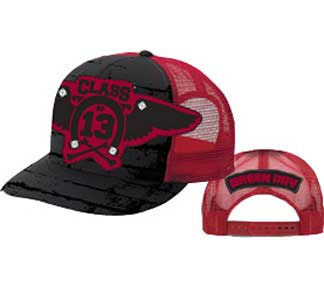 Green Day- Class Of 13 on front, Logo on back on a black/red trucker hat (Sale price!)