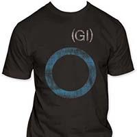 Germs- Distressed GI Circle on a coal ringspun cotton shirt