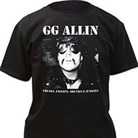 GG Allin- Freaks... on a black shirt