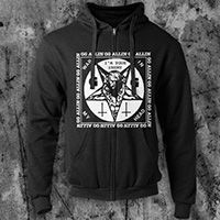 GG Allin- I'm Your Enemy on a black zip up hooded sweatshirt