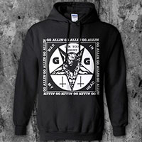 GG Allin- I'm Your Enemy on a black hooded sweatshirt