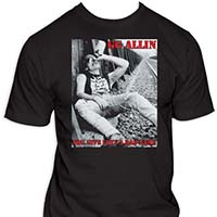 GG Allin- You Give Love A Bad Name on a black shirt