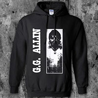 GG Allin- Picture on a black hooded sweatshirt