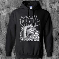 Ghoul- As Your Casket Closes on a black hooded sweatshirt