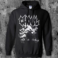 Ghoul- Mosher on a black hooded sweatshirt