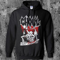 Ghoul- Pool Skate on a black hooded sweatshirt