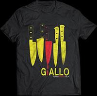 Giallo- Knives on a black ringspun cotton shirt (Dario Argento)