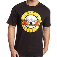 Guns N Roses- Bullet Design on a black shirt