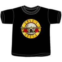Guns N Roses- Bullet on a black TODDLER shirt