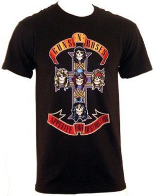 Guns N Roses- Appetite For Destruction on a black shirt