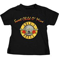 Guns N Roses- Sweet Child O' Mine on a black TODDLER shirt