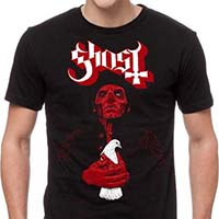 Ghost- Dove on a black shirt