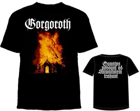Gorgoroth- Church Fire on a black shirt