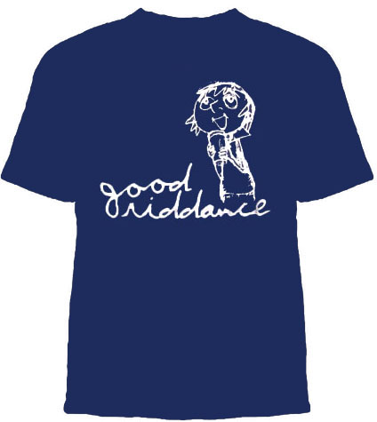 Good Riddance- Girl and Logo on a navy YOUTH SIZED shirt (Sale price!)