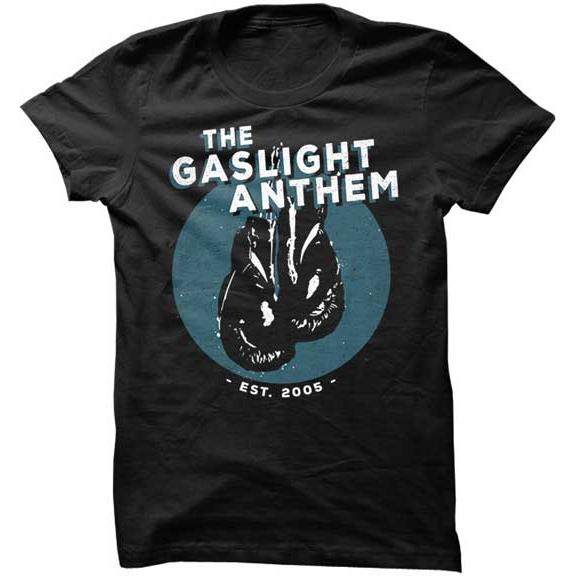 Gaslight Anthem- Boxing Gloves on a black shirt