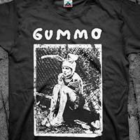 Gummo- Bunny Boy on a black shirt