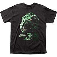 Godzilla- Portrait on a black shirt