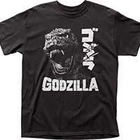 Godzilla- Scream on a black shirt