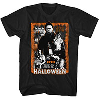 Halloween- Japanese Design (1978 Collage) on a black ringspun cotton shirt